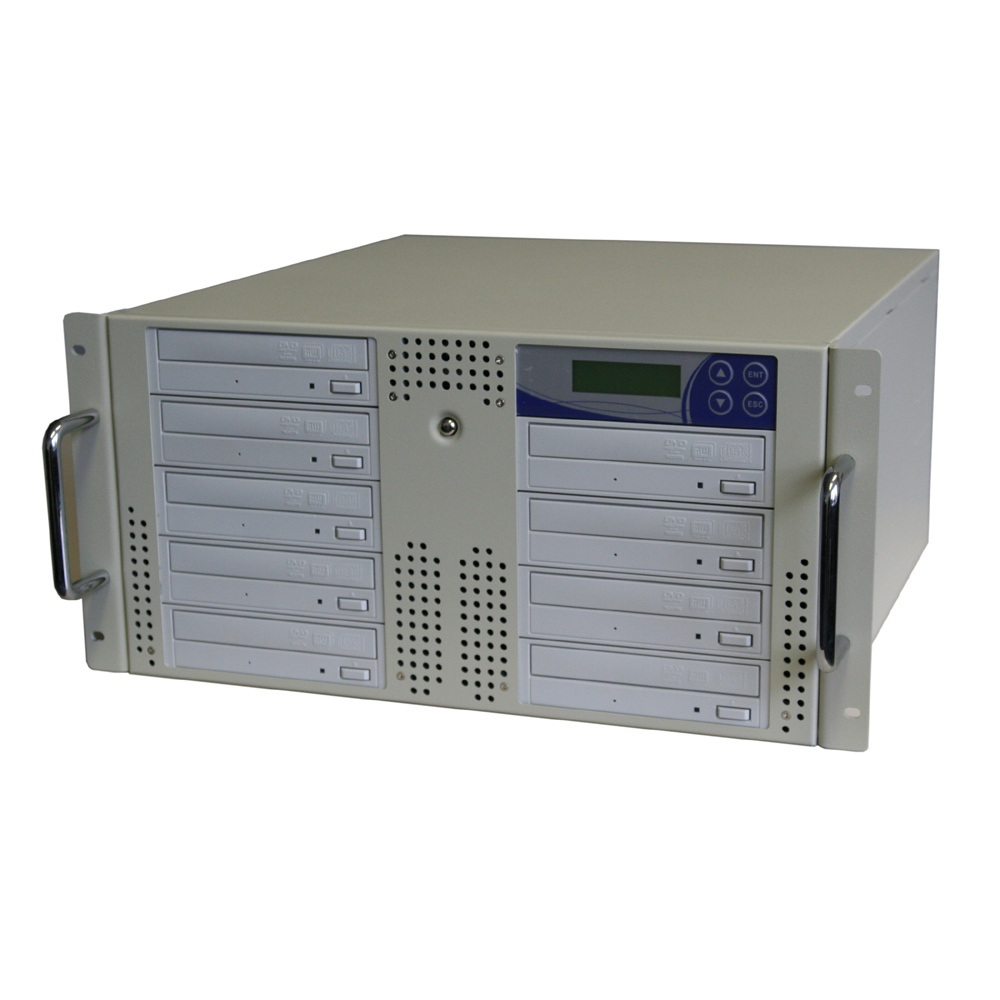 Kopieer Systeem Voor Dvd En Cd In 5u 19 Inch Behuizing Met
