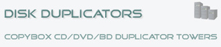 Open de Disk Duplicator Website voor informatie over CopyBox en CopyRack duplicators